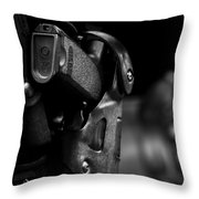 Night Traffic Stop Two Throw Pillow