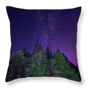 Night Trees Throw Pillow