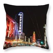 Night Vibes Throw Pillow
