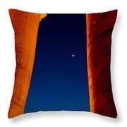 Night View From Temple Throw Pillow