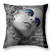Night Vision With Text Throw Pillow