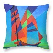 Nightboat Throw Pillow