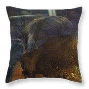 Nightbus II Throw Pillow