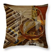 Nightcap Throw Pillow by Cory Still