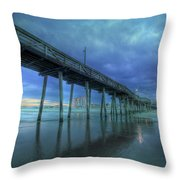 Nightfall At The Pier Throw Pillow