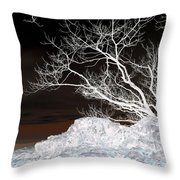 Nightfall Negative Throw Pillow