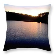 Nightfall On The Lake Throw Pillow