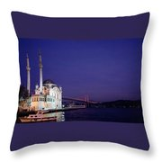 Nightfall Over Istanbul Throw Pillow