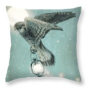 Nighthawk Throw Pillow by Eric Fan
