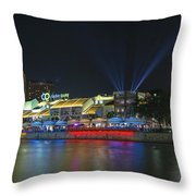 Nightlife At Clarke Quay Singapore Throw Pillow