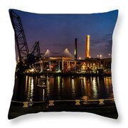 Nightlife In The Flats Throw Pillow