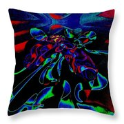 Nightly Expression Of Rhythms Throw Pillow