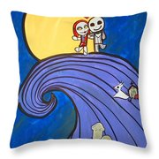 Nightmare Before Christmas Hill Cute Throw Pillow