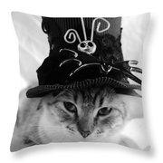 Nightmare Before Christmas Kitty Throw Pillow