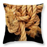 Nightmare Knot Throw Pillow