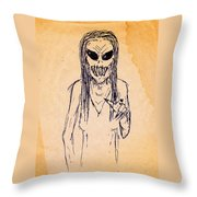 Nightmare Sketch Throw Pillow