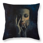 Nights In July Throw Pillow