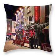 Nights In The Temple Bar Throw Pillow