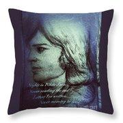 Nights In White Satin 2 Throw Pillow