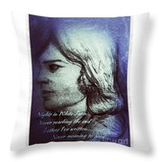 Nights In White Satin 3 Throw Pillow