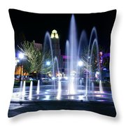 Nighttime At Chico City Plaza Throw Pillow