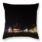 Nighttime In Wildwood New Jersey Throw Pillow