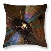 Nighttime Spider Web Throw Pillow