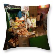 Nighttime Vendor Throw Pillow