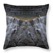 Nighttime Water Tumble Throw Pillow