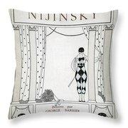 Nijinsky Title Page Throw Pillow