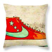 Nike Blazer Orange Throw Pillow by Alfie Borg