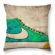Nike Blazers Throw Pillow by Alfie Borg