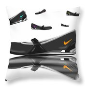 Nike Throw Pillow by Veronica Minozzi