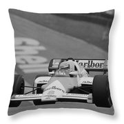 Niki Lauda. 1984 British Grand Prix Throw Pillow