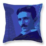 Nikola Tesla #2 Throw Pillow
