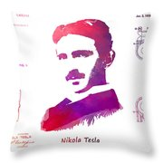 Nikola Tesla Patent Art Apparatus For Aerial Transportation  Throw Pillow
