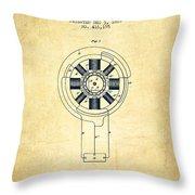 Nikola Tesla Patent Drawing From 1889 - Vintage Throw Pillow