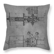 Nikola Tesla's Patent Throw Pillow