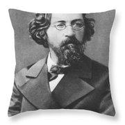 Nikolai Chernyshevsky (1828-1889) Throw Pillow