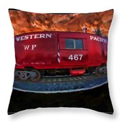 Niles Western Pacific Throw Pillow