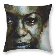 Nina Simone Ain't Got No Throw Pillow