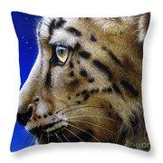 Nina The Snow Leopard Throw Pillow
