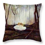 Ninas En El Bosque Throw Pillow