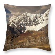 Ninashanca Rondoy And Jirishanca Peaks Throw Pillow
