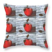 Nine Apples Throw Pillow