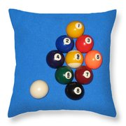 Nine Ball Rack. Throw Pillow