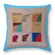 Nine Ladies Lolling Throw Pillow