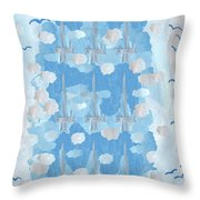 Nine Of Swords Throw Pillow