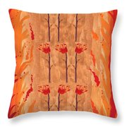 Nine Of Wands Throw Pillow