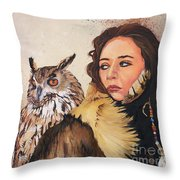 Nine Stars Woman / Wise Counsel Throw Pillow